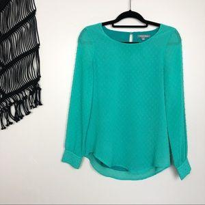 Tinley Road | swiss dot blouse